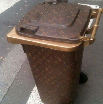 Holy shit there's a Louis vitton trash can