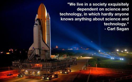 Wise words from Carl Sagan…