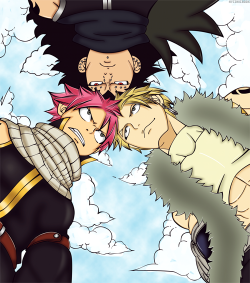 "The Three Dragon Slayers!!! More Than ""Rivals""! Not Quite ""Enemies""!  Fairy Tail Chapter 276 Chariot"