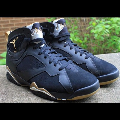 Air Jordan VII GS 'Gold Medal' - Retro Black/Metallic Gold-Sail #nike #air #jordan #vii #7s #gold #medal #shoes #kicks #kickz #swag #fashion #cool #fresh #fly #clean #retro #original #black #photography #illustration #graphic #picture #drawing (Taken with instagram)
