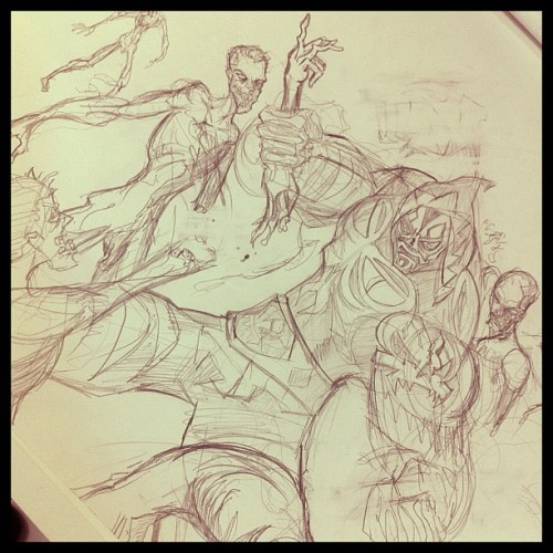 L.A.Park vs los Zombies encuerados #sketch #dibujo #draw #drawing #illustration #illustrator #ilustración #hgsantarriaga  #art #artwork #zombie #zombies #luchalibre #lapark #laparka #mask #skull #reaper
