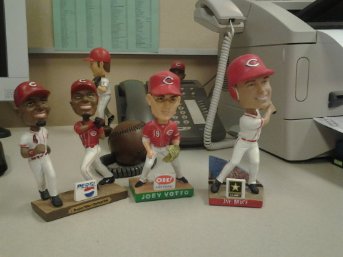 Joey Votto Bobblehead with lineup buddies Brandon Phillips and Jay Bruce.The first 25,000 fans at tonight's game will receive one of the Votto bobbleheads! http://bit.ly/JtJQpV