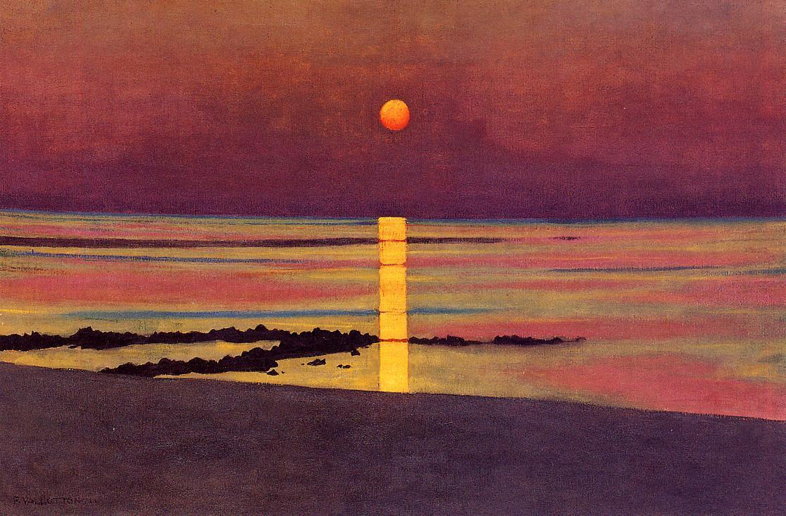 deadpaint:  Felix Valloton, Sunset.