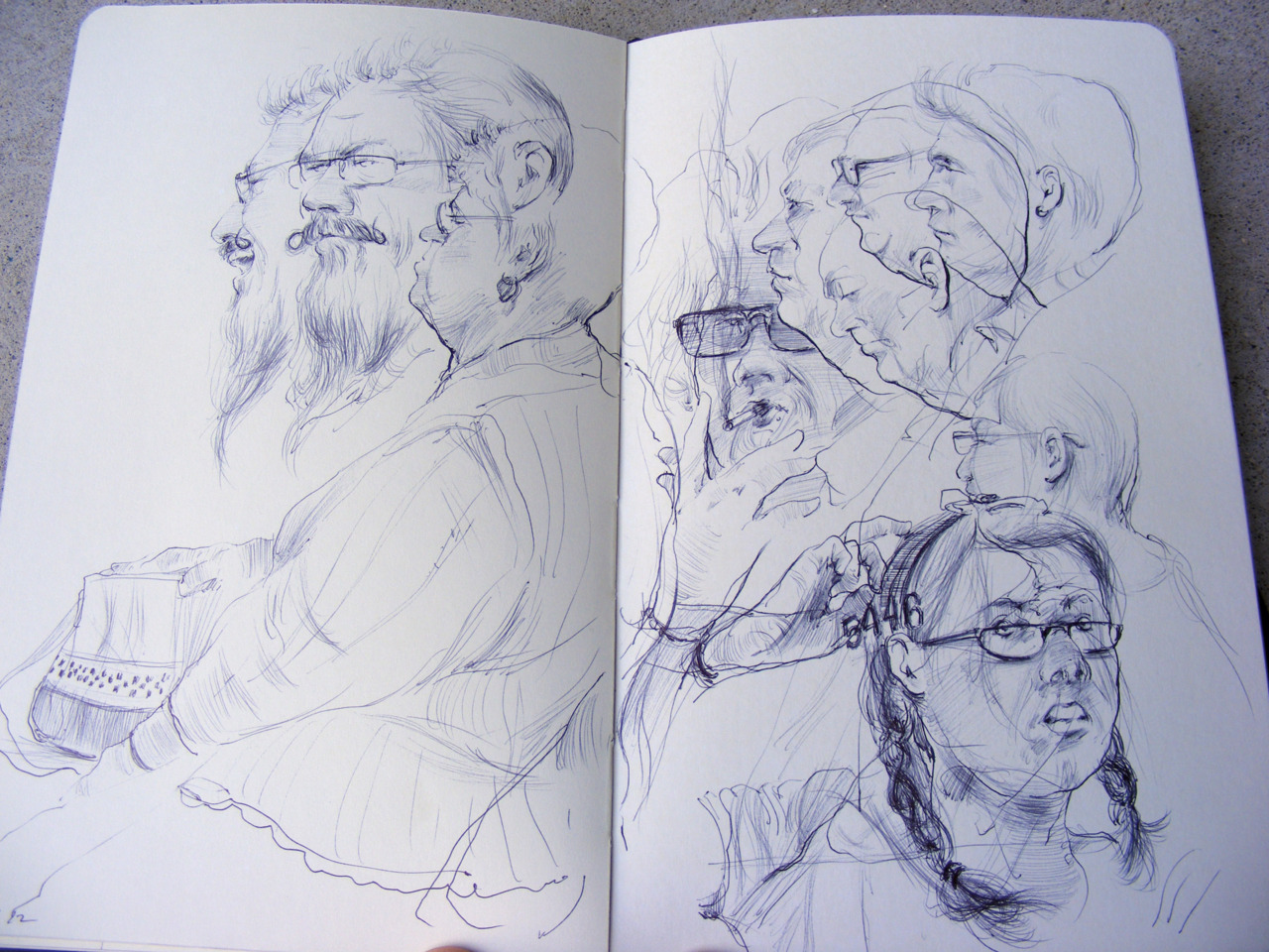 eatsleepdraw:  No people were harmed in the making of my Moleskine. Disgruntled maybe, but not harmed.