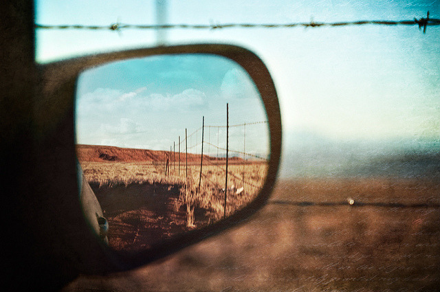 papasoup:  Saw things so much clearer in my rearview mirror by pixelmama on Flickr.