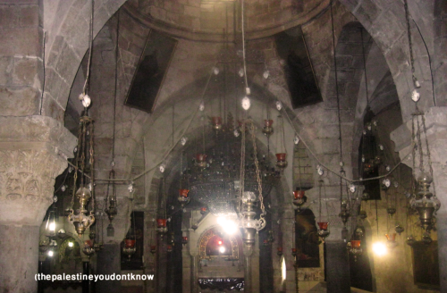 thepalestineyoudontknow:  Inside the Church of the Holy Sepulchre , Jerusalem , Palestine (taken by thepalestineyoudontknow) .It's a really spiritual place which I love to visit always even though I'm a Muslim and I love seeing people from all around the world praying  in one place  . I love my Palestine !   It's really sad that this place is forbidden for me to visit because of the Israeli occupation …