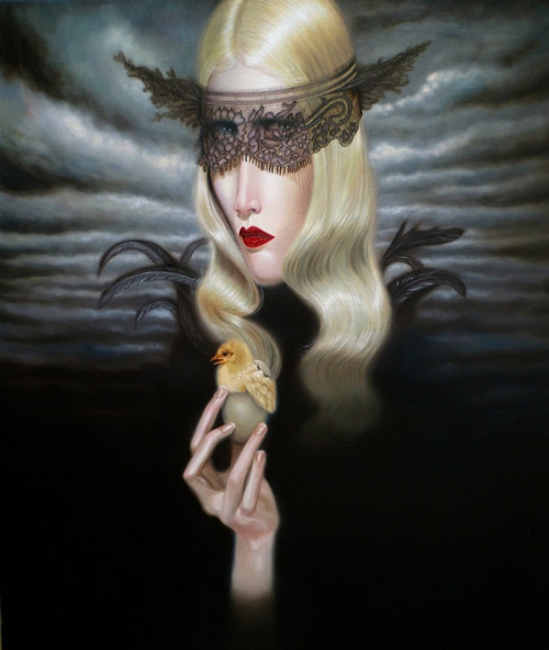 "ssdmmfr:  Artist: Troy Brooks ""Widow China White"" Oil on Canvas, 20"" x 24"" 2012"