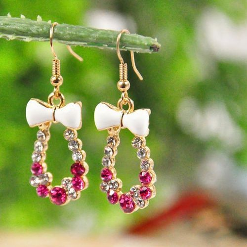 Ruby diamond earings