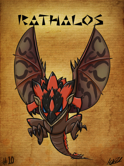 #10 - Rathalos Monster Hunter Sketch Diary