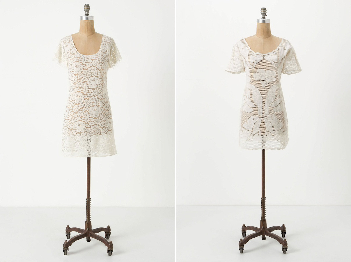 [by Anthropologie: 1. Lacy Cover-Up | 2. Aracari Mesh Cover-Up]
