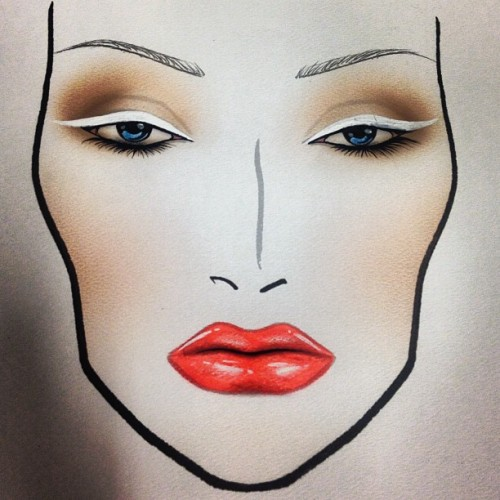 milesgeorge:  This is the #crystal #avalanche white #liner #facechart for #mac #heysailor! (Taken with Instagram at MAC Cosmetics)