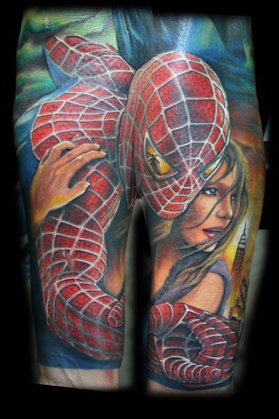 fuckyeahqualitytattoos:  Spiderman by Chris Blinston