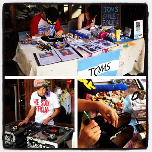 Toms Style your Sole Event is on!!! #goodstockboutique #toms #tomsshoes #styleyoursole #mothersday #art (Taken with Instagram at Good Stock Boutique)
