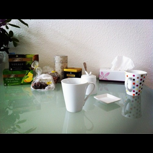good times :) whiteduckling:  Take 133 - tea time (Taken with instagram)