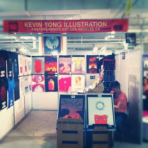 Unique LA has started! I'm at Booth 192. Say you're with Kevin Tong Illustration to get in free (first ten per day) (Taken with instagram)