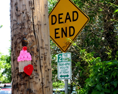 No dead ends, just #yarnbomb cupcakes It bears repeating.