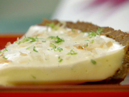 Key Lime-Coconut Pie http://www.foodnetwork.com/recipes/bobby-flay/key-lime-coconut-pie-recipe/index.html