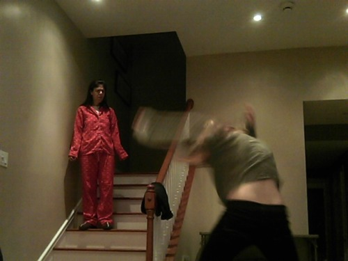 myspacefamosity:  me moshing and my mom not understanding