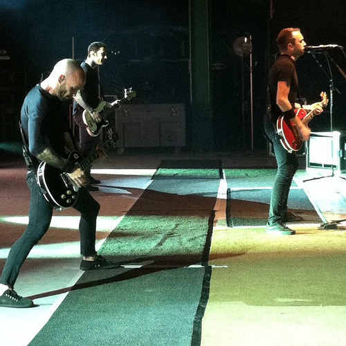 ipostpicturesofriseagainst:  Rise Against. (by _americara)