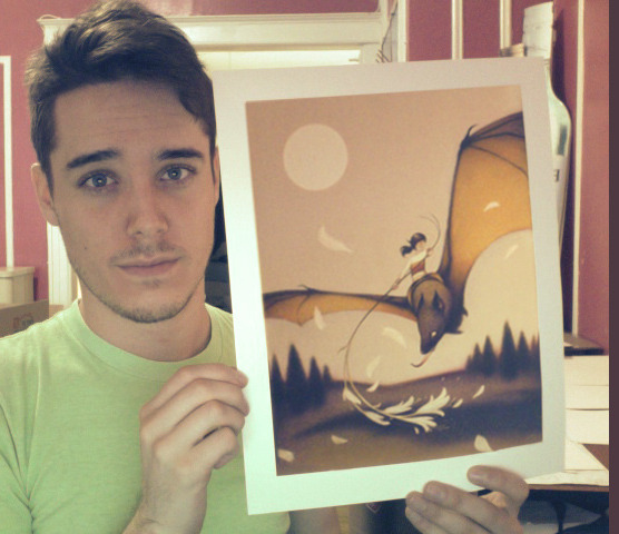 1xRun -Bat Rider- prints arrive this week and ready for signing/gold-embellishing. I didnt have a chance to post a heads up before their sale on tumblr a week back because they sold out immediately within a few hours of being released on 1xRun! So, sorry if you didnt get a chance to snag one of the 25 prints in the limited run. Not to worry though, this definitely wont be the last run I do through the 1xRun gang. I just got my hands on one of the proofs and it looks fantastic, so I'm really excited so send them out in the next couple weeks to people!