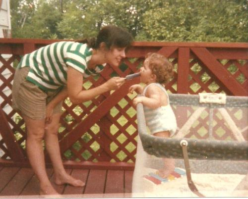 Me and my mom, summer 1987. A little soon, but - Happy Mother's Day!