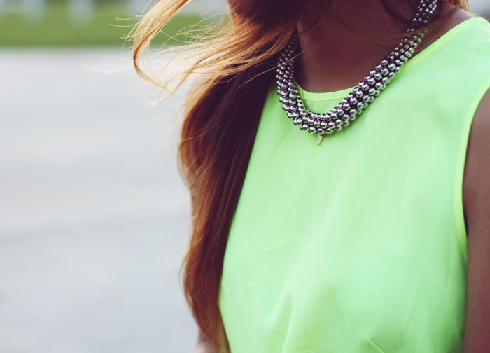 Tank: Zara //  Necklace: H&M (image: sincerelyjules)