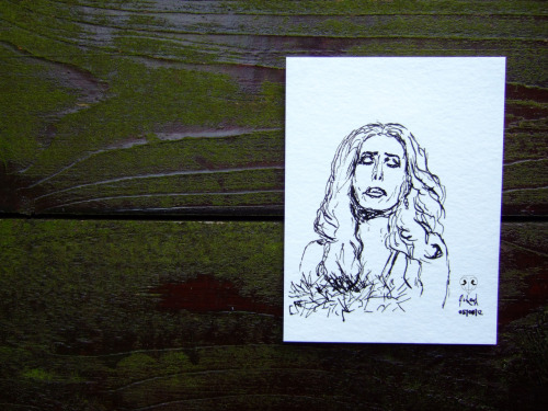 The Crying Light: Carmen Carrera, Calligraphy Ink on Bamboo Paper