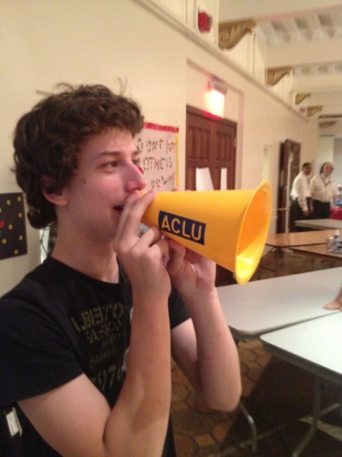 #hivebuzz The NYCLU gave out megaphones at the 1st Amendment Hack Jam — so free speech can be heard loud and clear!