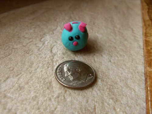 Close-up of one of my clay guinea pigs. So tiny. :)