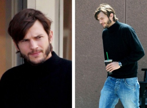 deathandtaxesmag:  Ashton Kutcher as Steve Jobs.     Ashton Kutcher as my friend Louis.