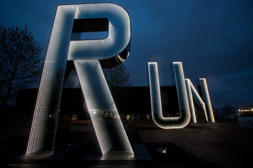 myedol:  RUN sculpture for the 2012 London Olympics by Monica Bonvicini