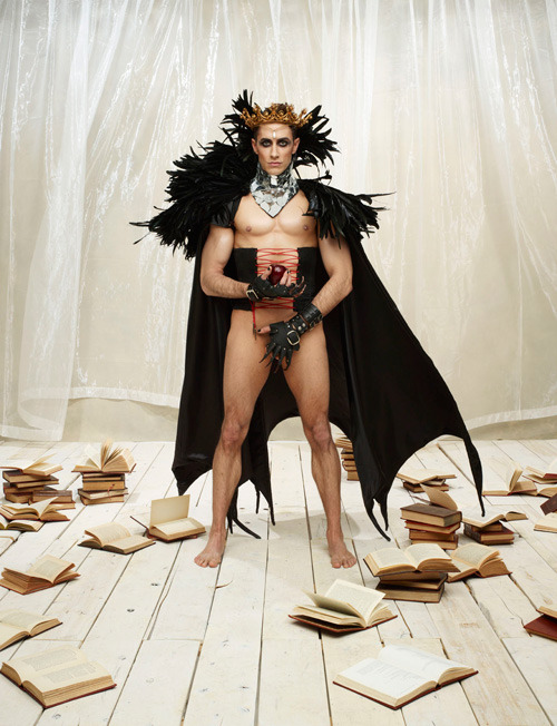 "tardishobo:  dreaminpng:  kindaskimpy:  This year's Broadway Bares, the annual fundraiser for Broadway Cares/Equity Fights AIDS, features Broadway's hottest stars recreating fairy tales with their very own happy endings. ;) See? Eye-candy isn't always frivolous!  I will never not reblog this  is that first one supposed to be Goldilocks and the three bears"", omg"