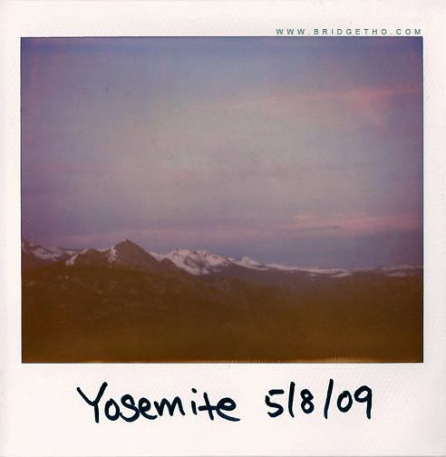 Yosemite polaroid from travel journal series.