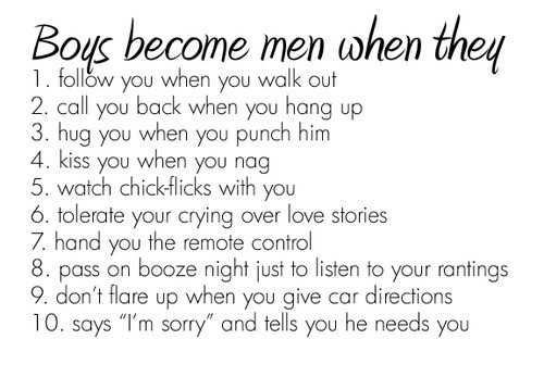 bestlovequotes:  Boys become men when… | FOLLOW BEST LOVE QUOTES ON TUMBLR  FOR MORE LOVE QUOTES