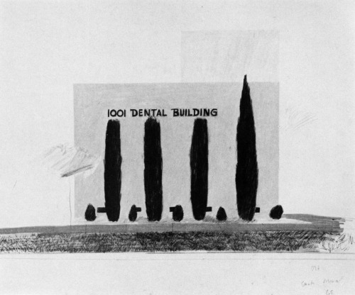 archiveofaffinities:  David Hockney, 1001 Dental Building, Santa Monica, California, 1968