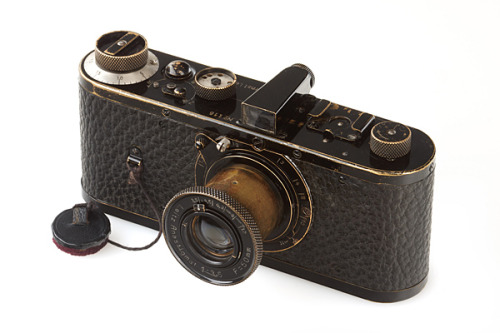 burnedshoes:  WORLD'S MOST EXPENSIVE CAMERA A Leica Series 0 from 1923 achieved a new bidders record at an auction in Vienna on 12th May, 2012: The camera had been expected to sell for around 600,000 to 800,000 euros at the WestLicht Photographica Auction in Vienna, but ended up selling for a record 2.16 million euros. For the 5th time the world record for the most expensive camera ever sold was broken at a WestLicht auction in Vienna. The Leica 0-Series camera was sold after a furious bidding war with hopeful buyers placing bids via the phone, the internet and in the auction room itself. Only 25 of the cameras were produced in 1923 as test pieces for the 35mm film market. Only 12 of the cameras are now known to have survived. (source: +, +, +) See a video of the auction here. Another camera that is collecting dust in a collector's home?