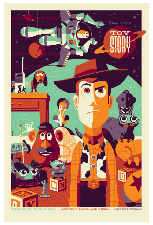 fuckyeahmovieposters:  Toy Story by Tom Whalen Submitted by kissmeoriwilldie