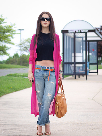 Striking sheer cardigan (by Veronica P)