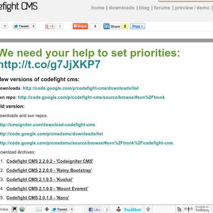 Download archive of #codefightcms which is an open source #codeignitercms (via BO.LT)