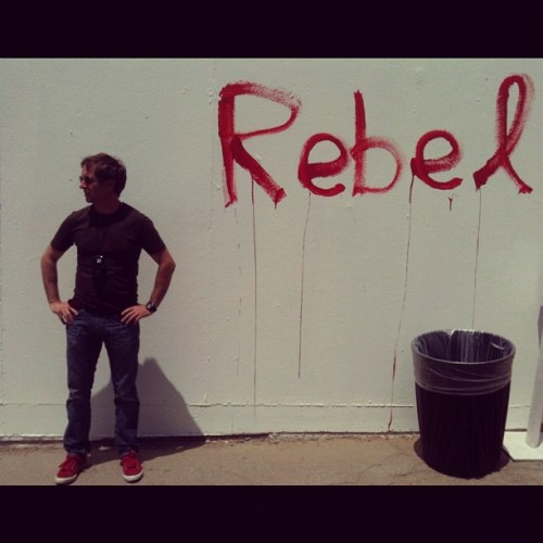 Self portrait at James Franco's Rebel art show #franco #rebel #hollywood #la #iphoneography  (Taken with instagram)