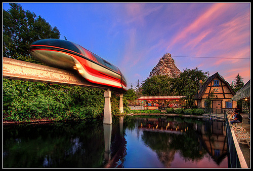 Dusk at Disneyland (by Gregg L Cooper)