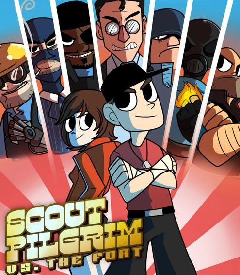 gideoncat:  team fortress/scott pilgrim crossover anybody?