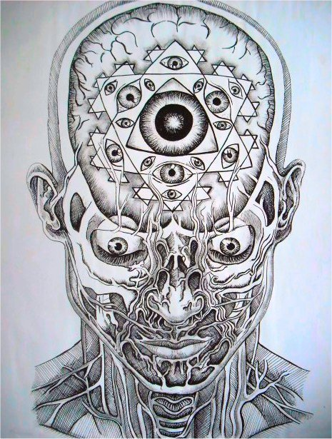 lifeoutsider:  pineal  The Mystic Eye