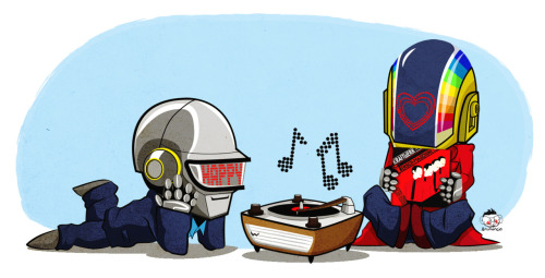 fyeahdaftpunk:  submitted by noseingles WeAreTheRobots.jpg bRUNANCIO @ Facebook | Flickr | deviantART | Historietas | Twitter | Behance