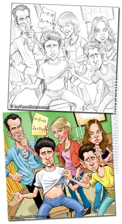 It's MAD Magazine-esque Matt Dallas & the Kyle XY Trager Family! MDW main site  TwitterFacebook PageYouTube (Art © byTomRichmond)
