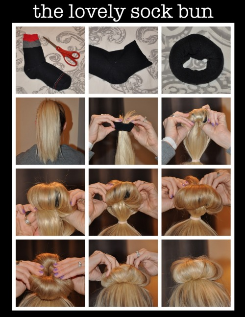 fuckyeahsockbuns:  I'm on a mission to find every sock bun tutorial in the FREE WORLD
