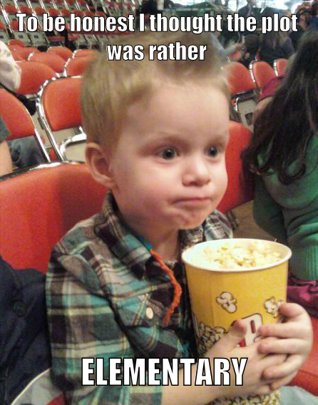 Kiddie film critic.