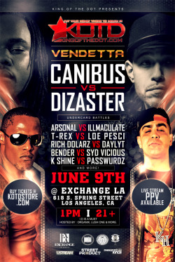 crossculturalmadness:  KOTD - VENDETTA - JUNE 9th - LIVE @ EXCHANGE LA  dam i wish i lived on the west ….just for this