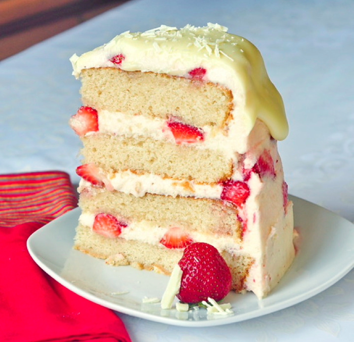 strawberry white chocolate buttercream