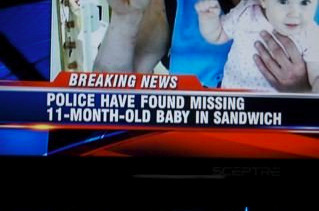 a sandwich is no place for a baby